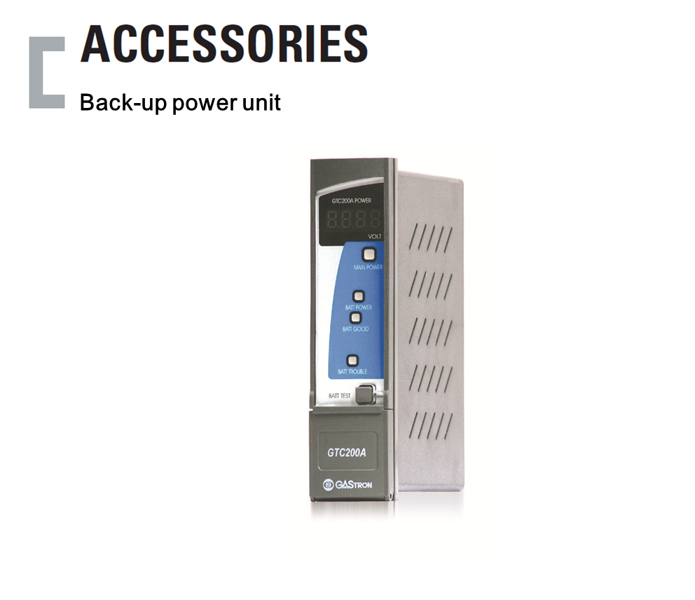 Back-up power unit, Gas Detector Receiver Accessories