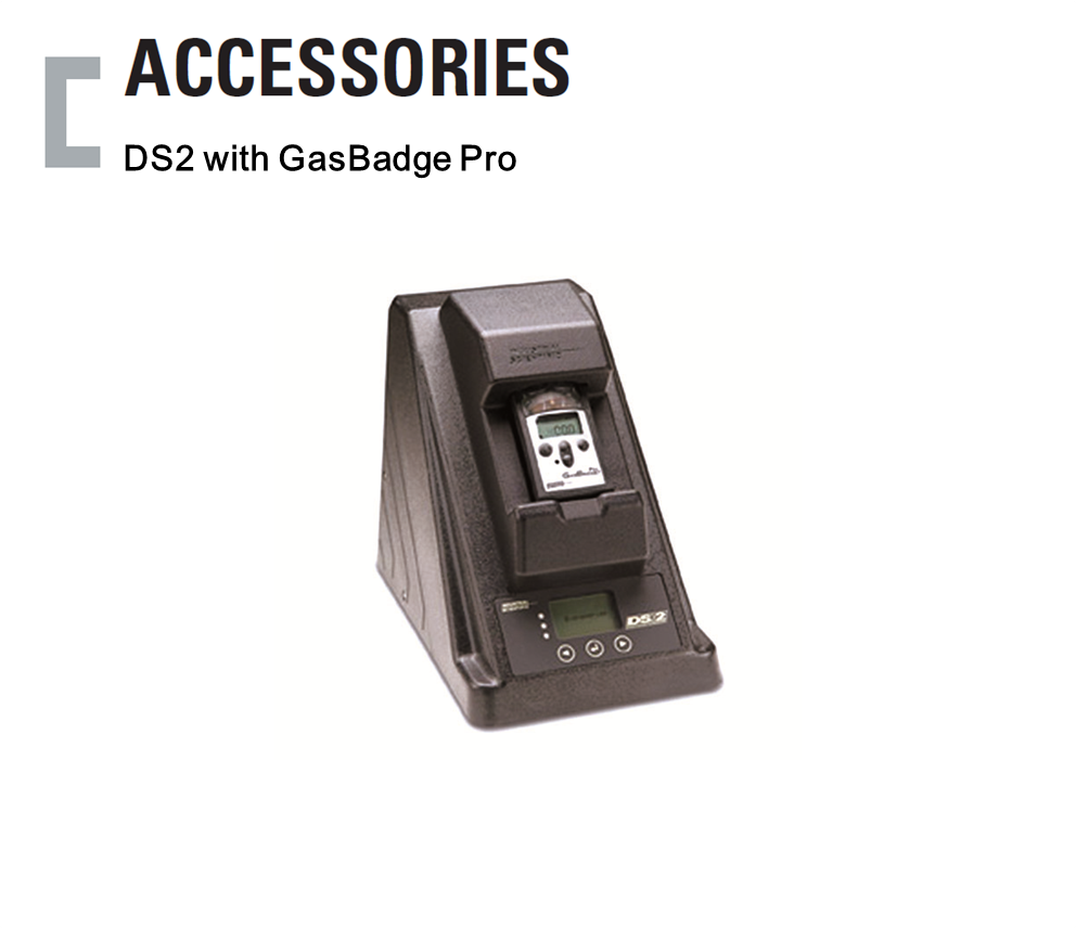 DS2 with GasBadge Pro, Portable Gas Detector Accessories